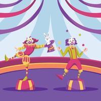 Zirkus zeigen Clowns Hintergrund vektor