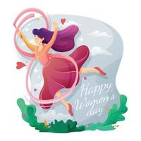 Happy Frauentag Design vektor
