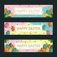 Happy Easter Banner Set vektor