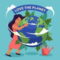 liebe das Konzept des Tages der Erde vektor