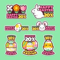 Happy Easter Stickers Set vektor