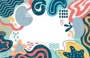 Vielzahl von niedlichen Formen abstrakten Hintergrund vektor