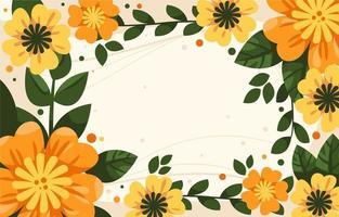 frischer Blumenfrühlingshintergrund vektor