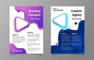 Flyer-Design-Vorlagen für professionelles kreatives Geschäft vektor