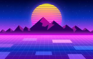 Retro-Futurismus-Hintergrund vektor