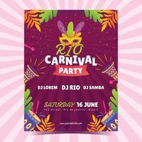 rio karneval fest affisch design vektor