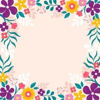 schöner Frühlingsblumenhintergrund vektor
