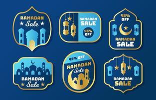 ramadan försäljning etikett samling