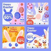 Happy Easter Social Media Vorlage für Werbezwecke vektor