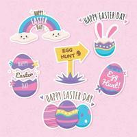 Happy Easter Day Aufkleber Sammlung
