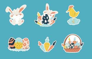 glad påsk klistermärke koncept