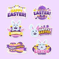 Happy Easter Sticker Sammlung vektor