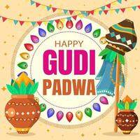 glad gudi padwa illustration
