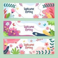 Frühlings-Willkommensbanner vektor