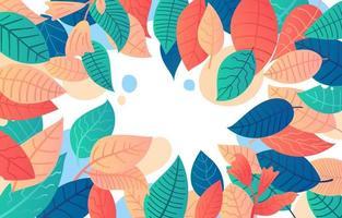 bunter Blätterhintergrund mit Farbverlauf vektor
