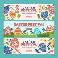 die vielen Dinge, die Sie auf dem Osterfest sehen vektor