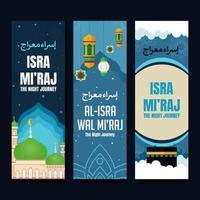 isra mi'raj banner samling vektor