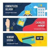Banner-Set für kontaktlose Technologie