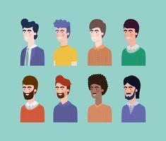 Gruppe von interracial Männern Charaktere vektor