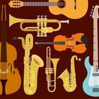 instrument mönster bakgrund vektor
