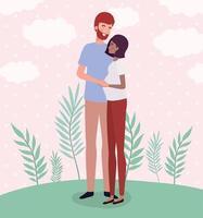 interracial par som väntar en baby