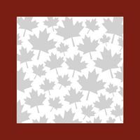 Ahornblatt von Kanada Rahmenentwurf vektor