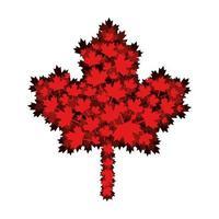 lönnlöv av Kanada design vektor
