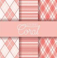 uppsättning korall texturer mönster vektor