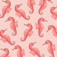 Seepferdchen Muster Hintergrund vektor