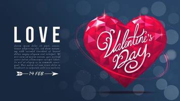 Happy Valentinstag Typografie Poster vektor