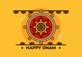Glücklicher Onam-Vektor vektor