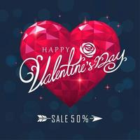 Happy Valentinstag Typografie Verkauf Poster vektor
