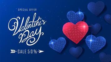 Happy Valentinstag Banner vektor