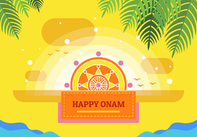 Glad Onam Vector