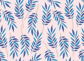 nahtloser Musterhintergrund des blauen Laubs vektor