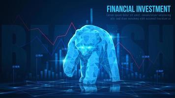 Konzeptkunst der bärischen Finanzinvestition vektor