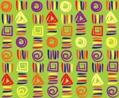 abstraktes geometrisches Muster. ethnisches nahtloses Muster. abstrakte Blumenverzierung. Ziermotive der Gemälde der alten Kultur. vektor
