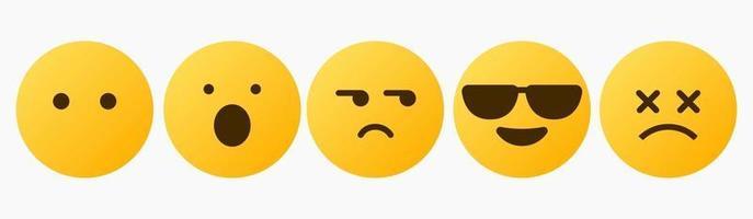 Emoticon-Reaktion, was auch immer, omg, yolo - Vektor