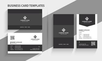 moderne Visitenkartenvorlage. Hoch- und Querformat. horizontales und vertikales Layout. Briefpapierdesign, Druckschablone, Vektorillustration. vektor
