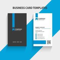 modern vertikal visitkortsmall. brevpapper design, platt design, tryckmall, vektorillustration.
