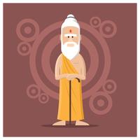 manlig guru karaktär