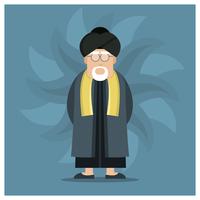 Männlicher Guru-Charakter vektor