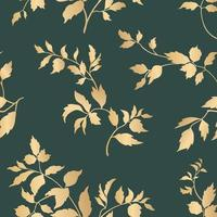 Blumenblätter nahtloses Muster. Laubgarten Hintergrund. florale dekorative tropische Natur Sommer Palmblätter dekorative Retro-Stil Tapete vektor