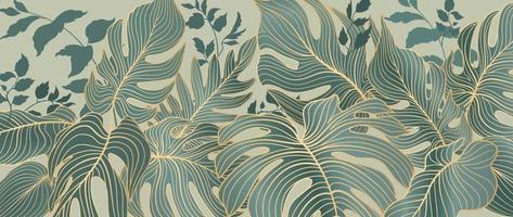 Blumenblätter Muster. Laubgarten Hintergrund. florale dekorative tropische Natur Sommer Palmblätter dekorative Retro-Stil Tapete vektor
