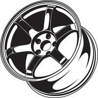 Auto Rad Illustration für die Konzeption. vektor