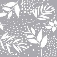 nahtloses Blumenmuster. Zweig mit Blattverzierung. gedeihen Natur Garten strukturierten Hintergrund vektor