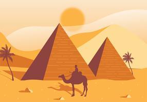 Ägypten-Pyramiden-Vektor-Design vektor