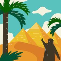 Pyramiderna i Egypten Vector