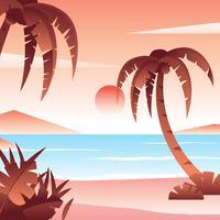 Tropisk strandvektor vektor