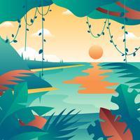 Tropisk landskapsvektor vektor